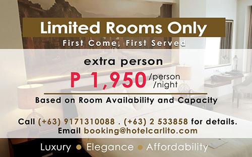 Hotel Carlito – Hotel and Restaurant – Tagaytay City